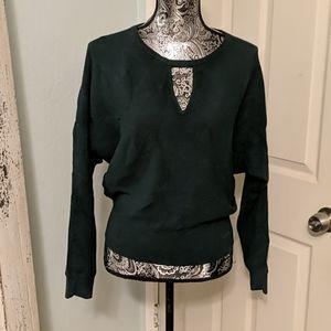 Express forest green dolman sweater